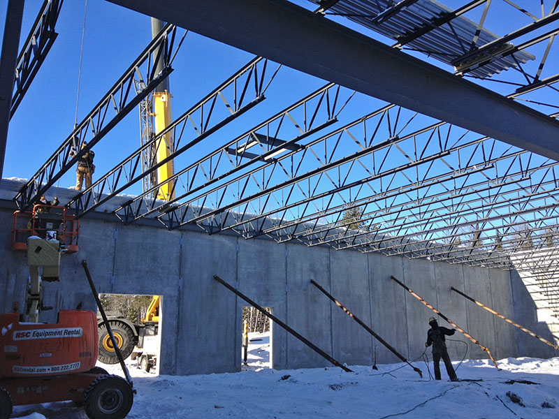 Girders in place - Feb 5, 2013