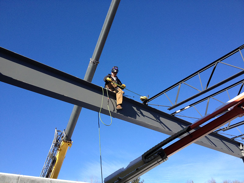 Steelworker atop a beam - Feb 5, 2013